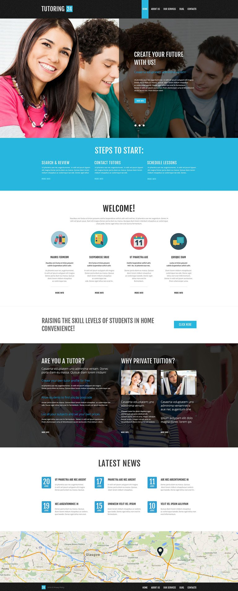 Education Online WordPress Theme New Screenshots BIG