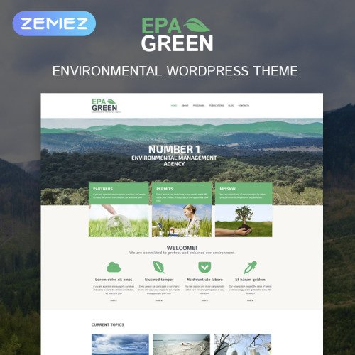 Epa Green - Responsive WordPress Template based on Bootstrap