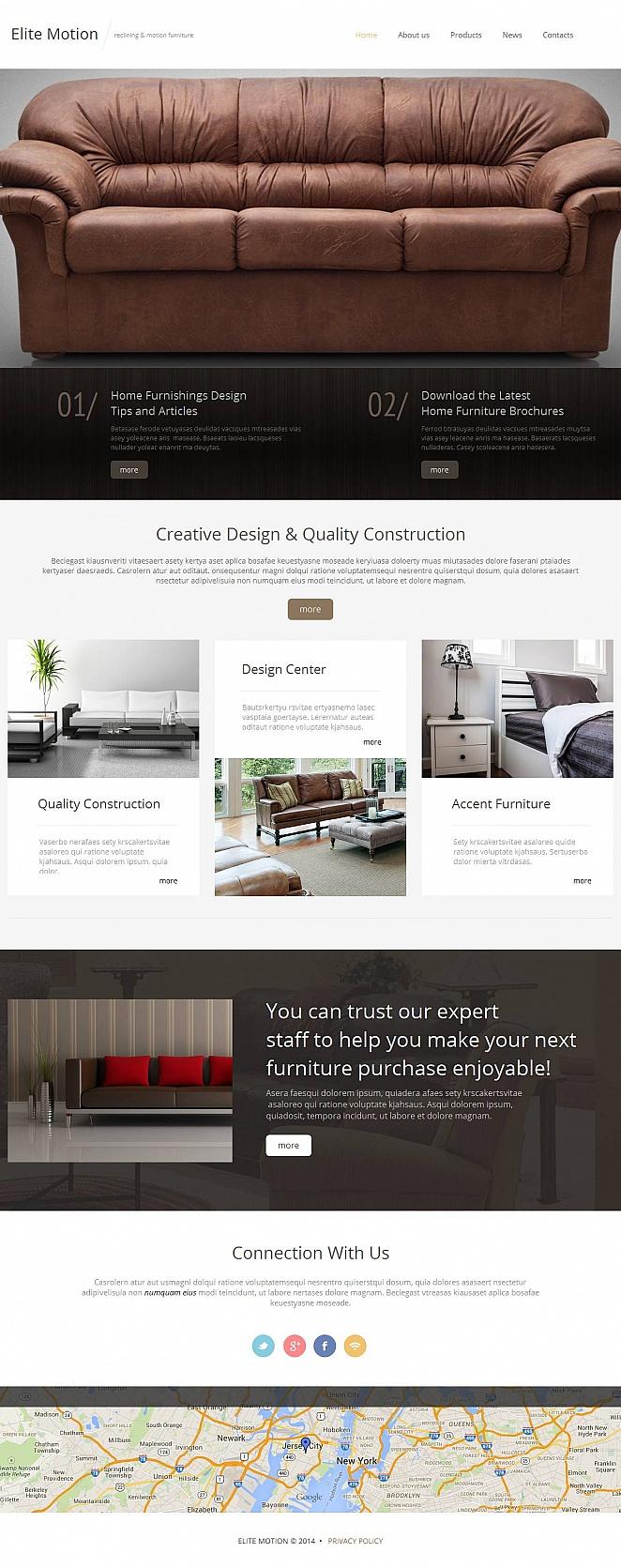 furniture moto cms html template 52204