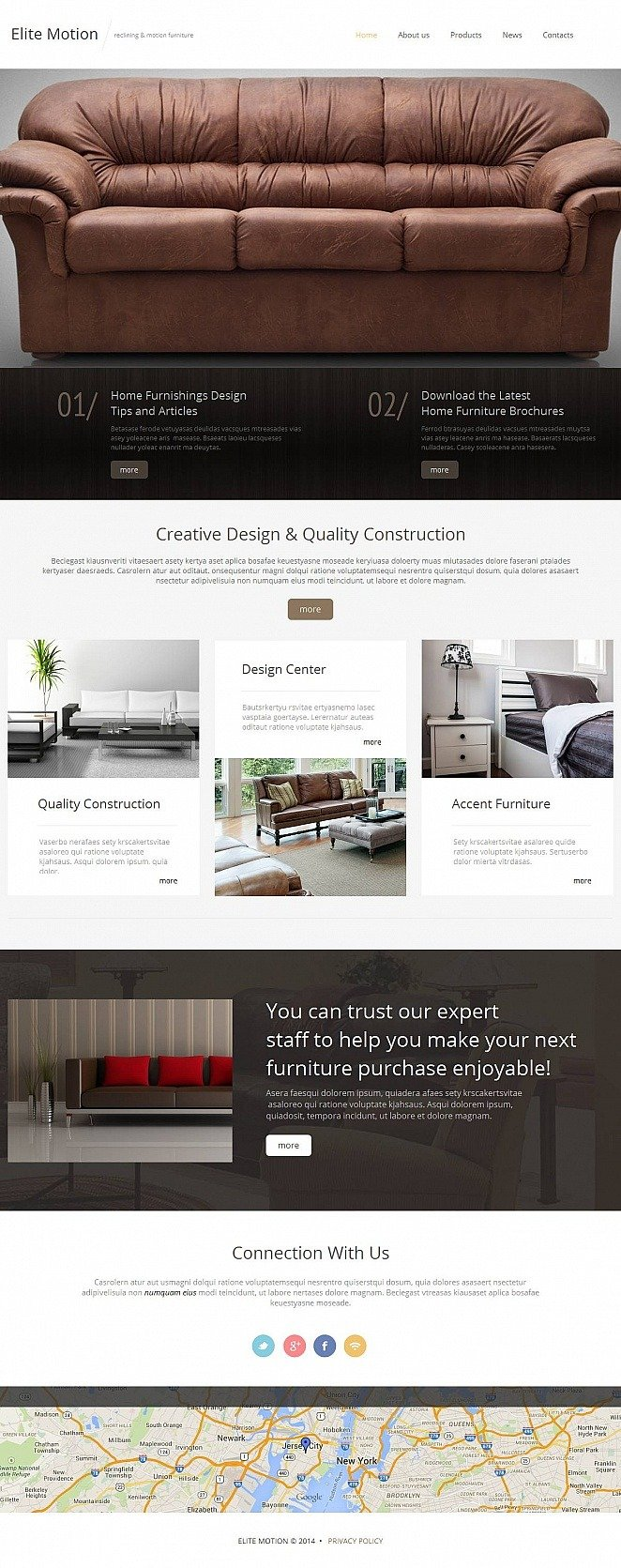 Furniture Moto CMS HTML Template New Screenshots BIG
