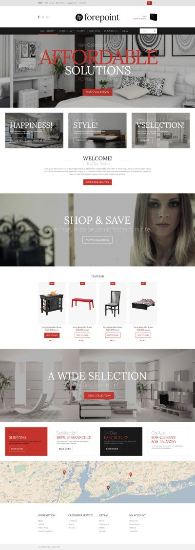 Furniture Shop OpenCart Template