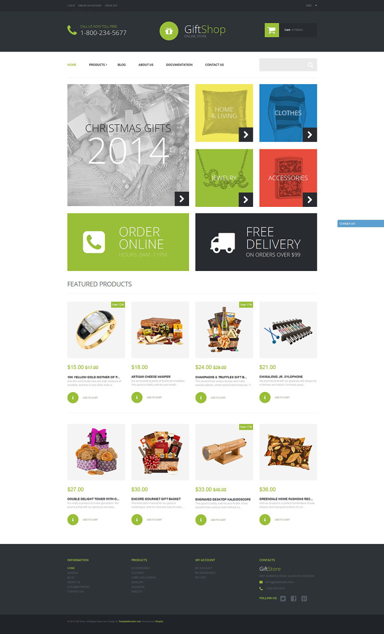 Gift Shop Shopify Theme New Screenshots BIG