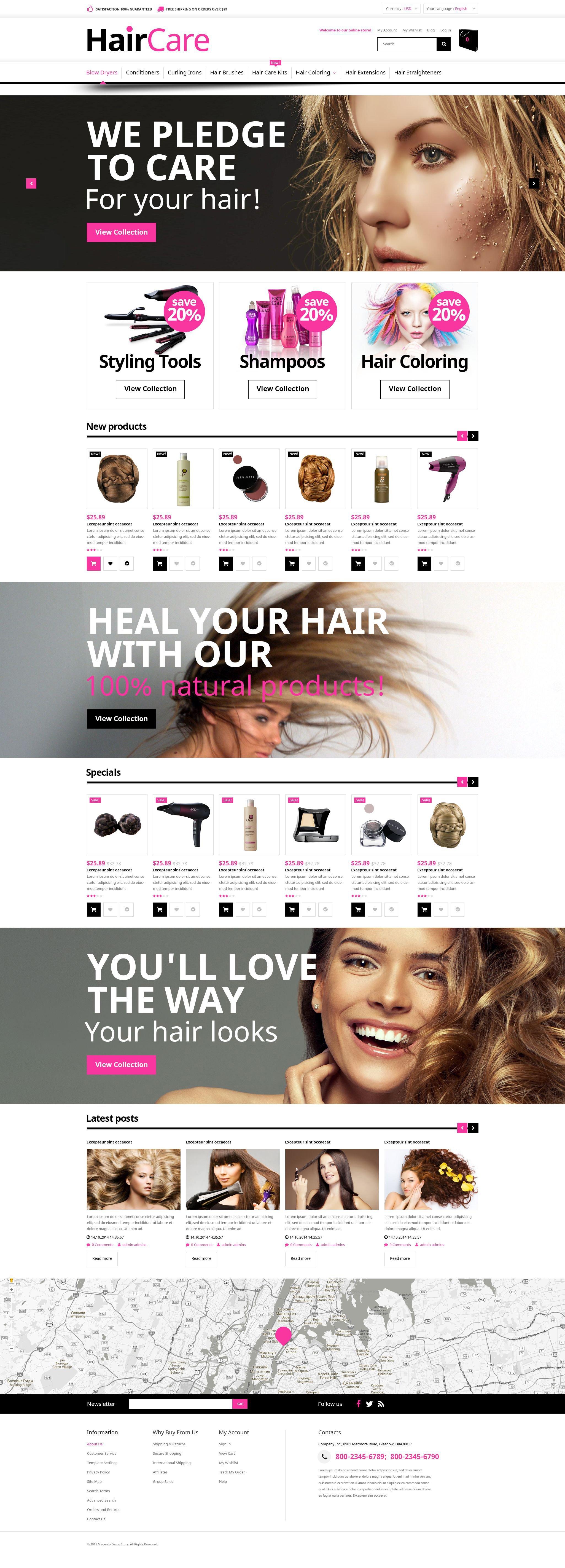 Hair Care Magento Theme - screenshot