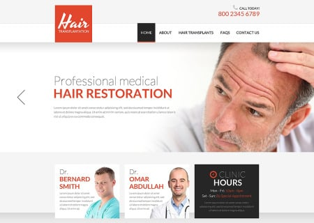 Hair Clinic Responsive