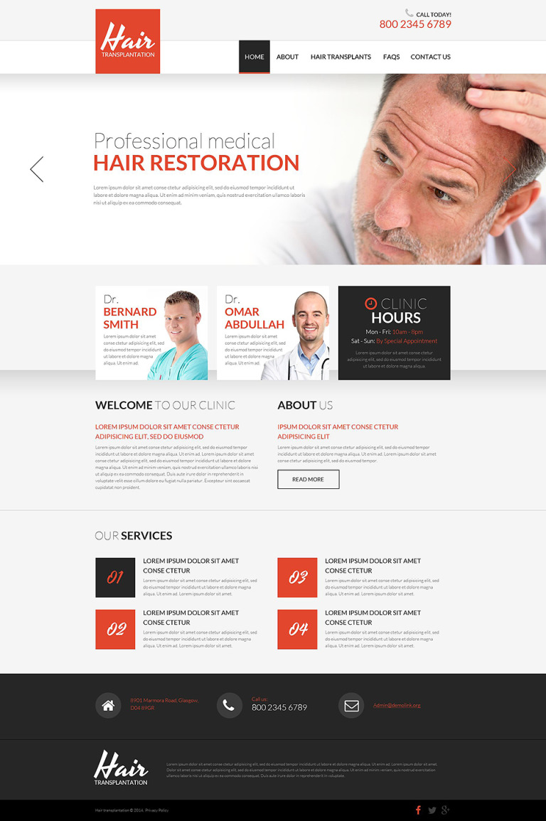 Hair Clinic Responsive Website Template New Screenshots BIG
