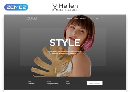 Hair Salon Responsive
