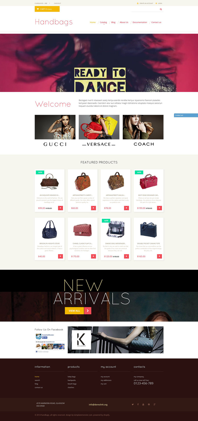 Handbag Responsive Shopify Theme New Screenshots BIG