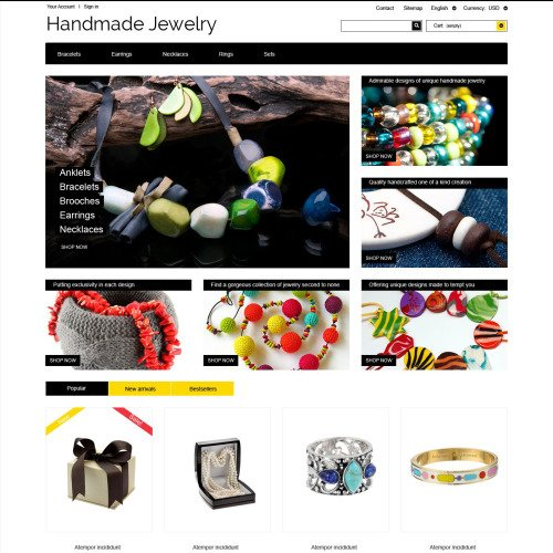Handmade Jewelry - PrestaShop Template based on Bootstrap
