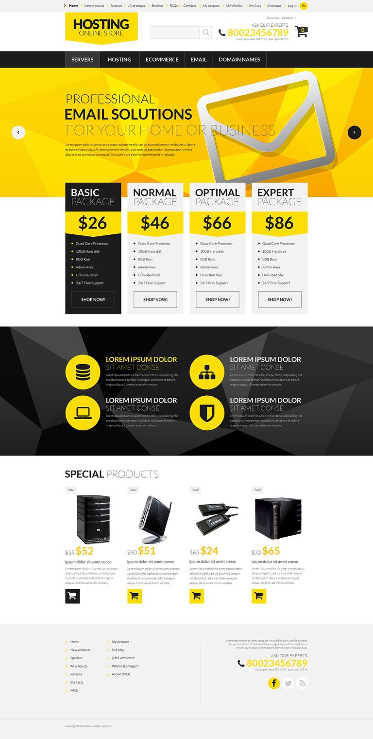 Hosting Board ZenCart Template New Screenshots BIG