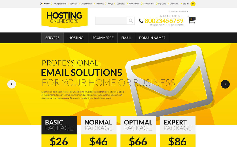 Hosting Board ZenCart Template