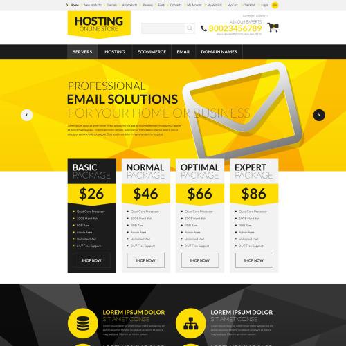 Hosting Online Store - HTML5 ZenCart Template