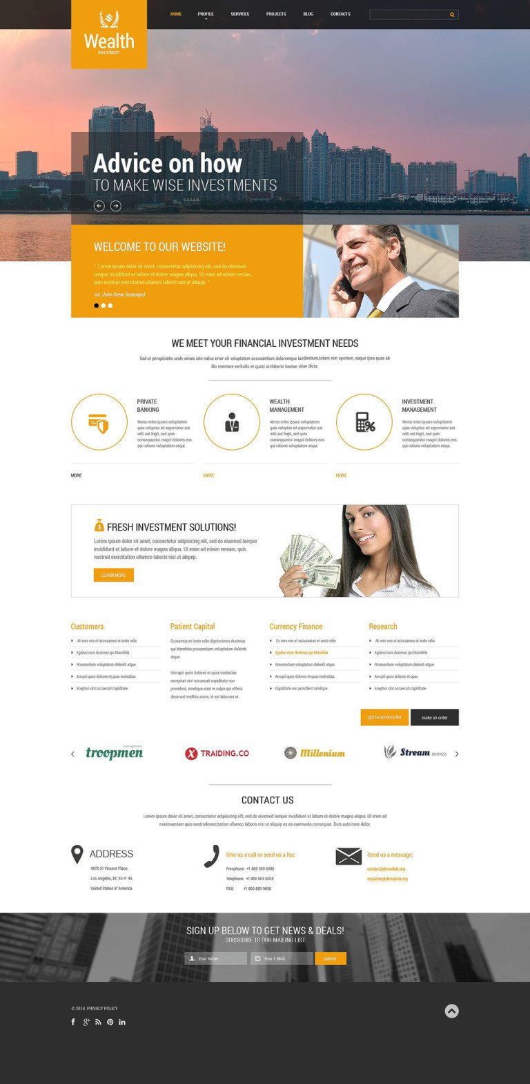 Investment Company Responsive Website Template New Screenshots BIG