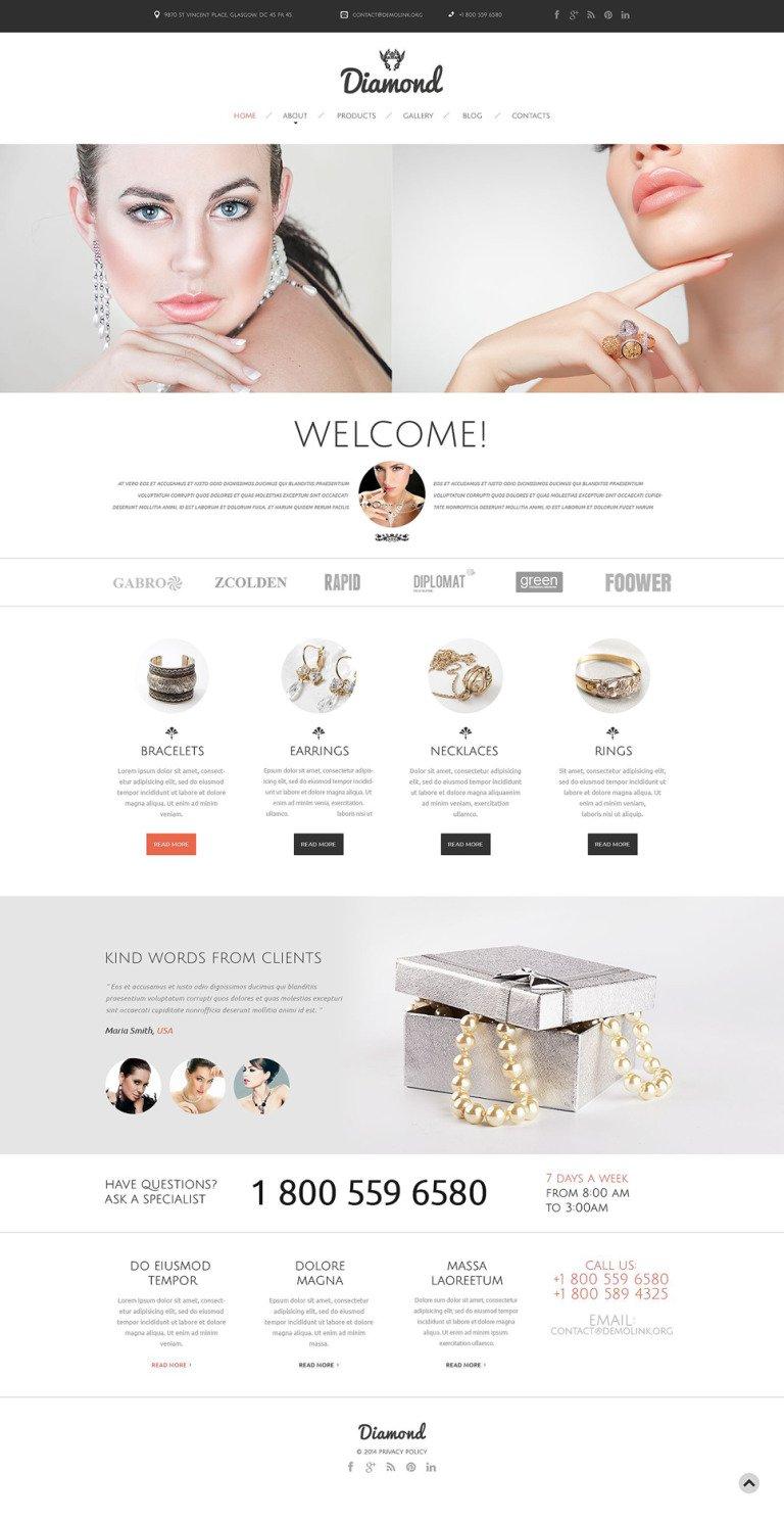 Jewelry Responsive Website Template New Screenshots BIG