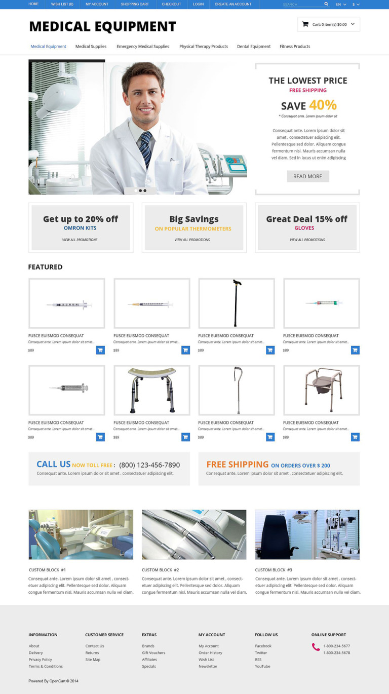Medical Equipment Responsive OpenCart Template New Screenshots BIG