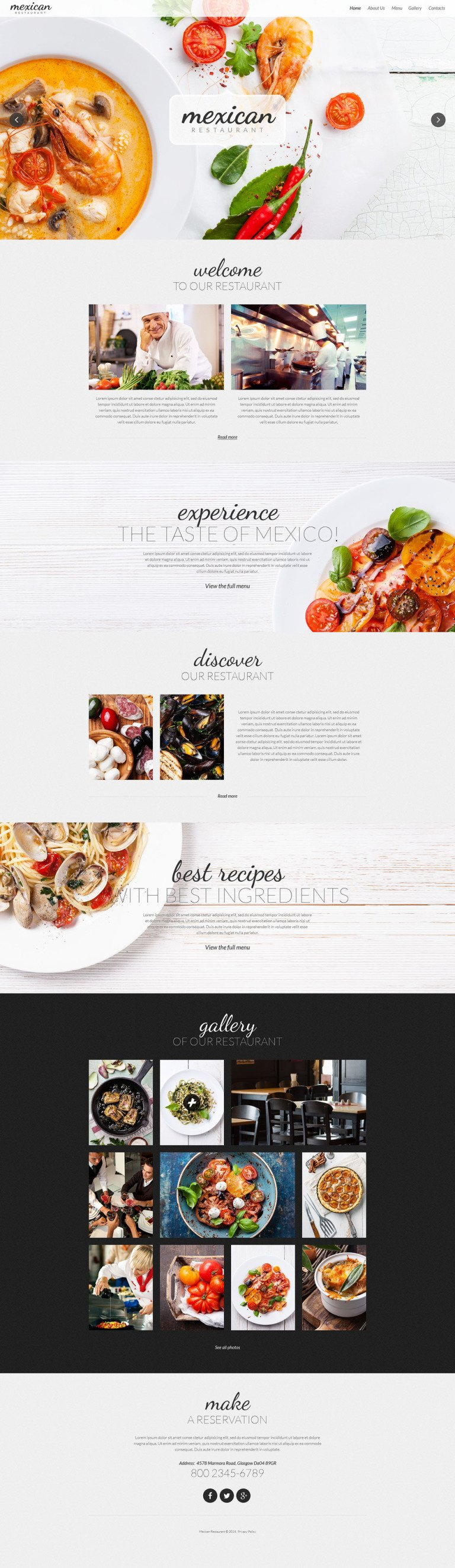 Mexican Restaurant Responsive Website Template New Screenshots BIG