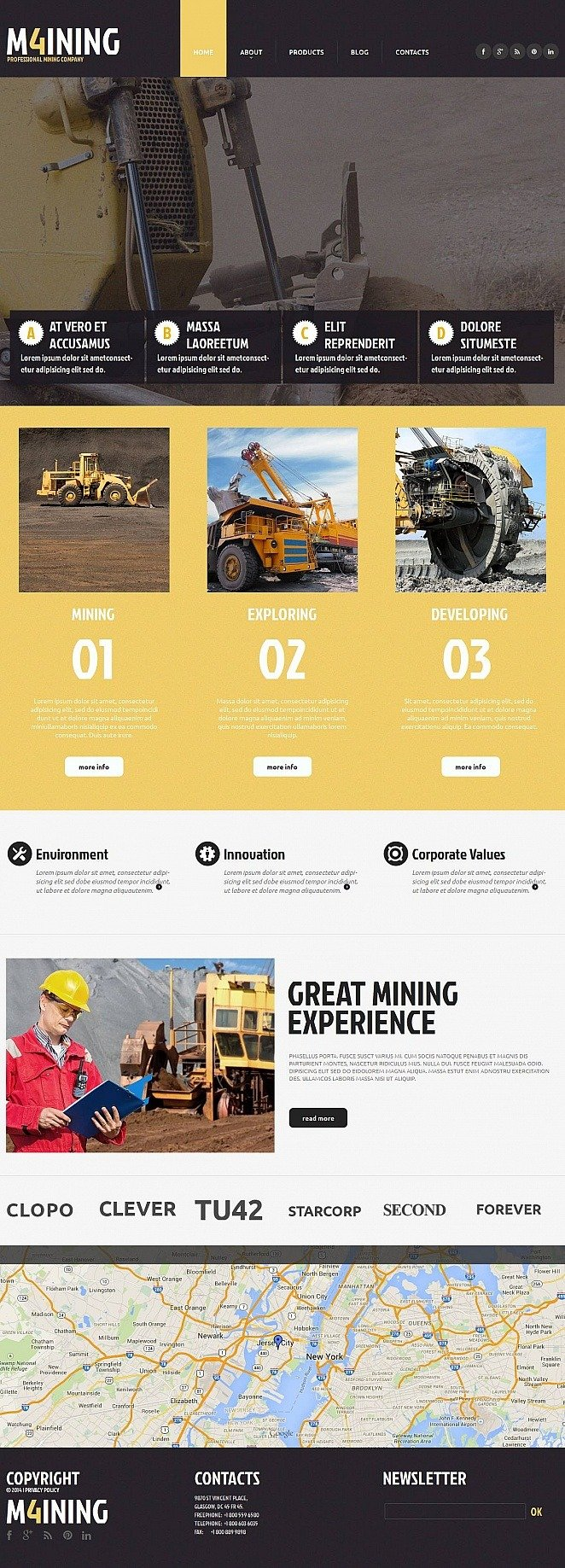 Mining Company Moto CMS HTML Template New Screenshots BIG