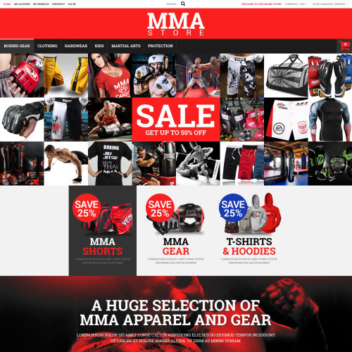 MMA Store - Magento Template based on Bootstrap
