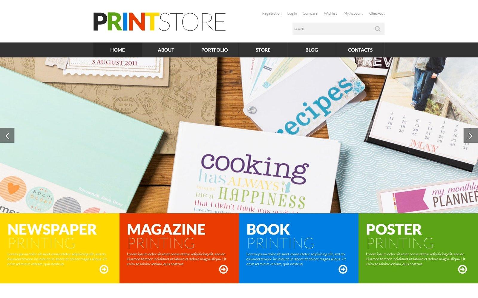 "Modello WooCommerce Responsive #52277 ""Print Production"""