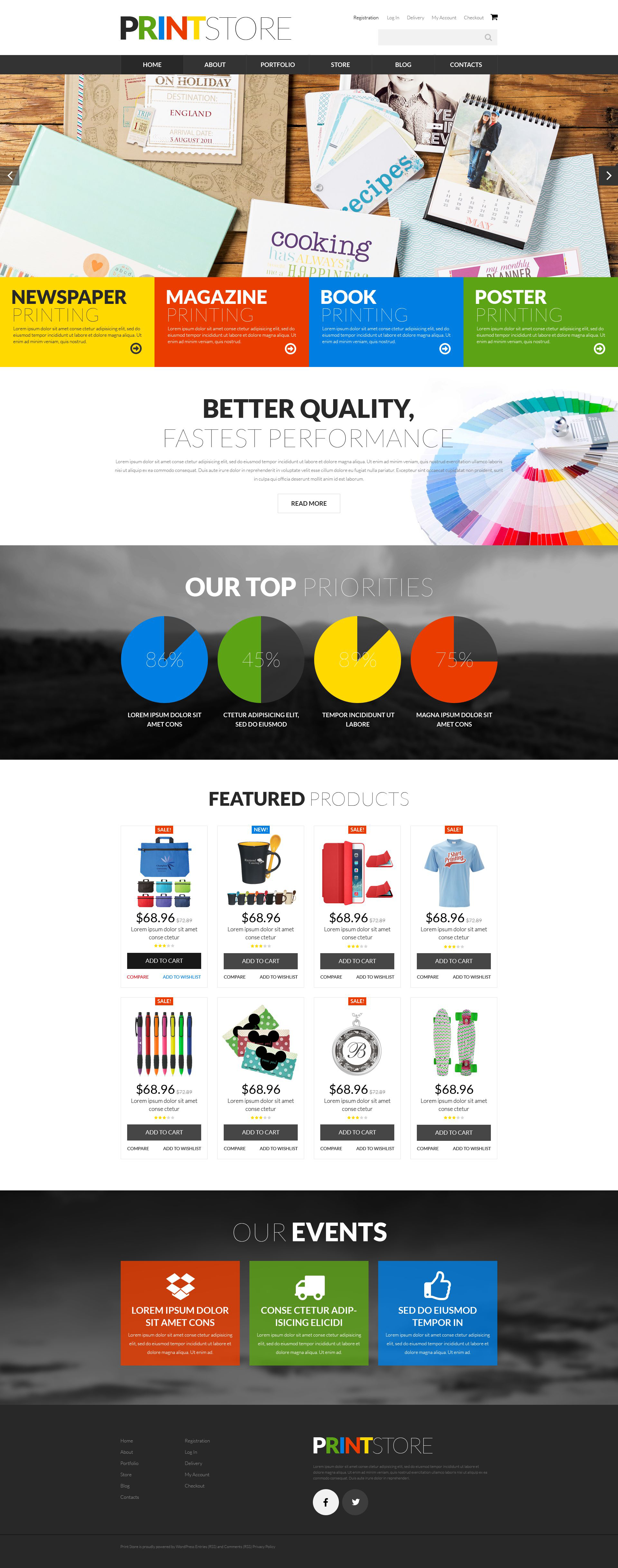 "Modello WooCommerce Responsive #52277 ""Print Production"" - screenshot"