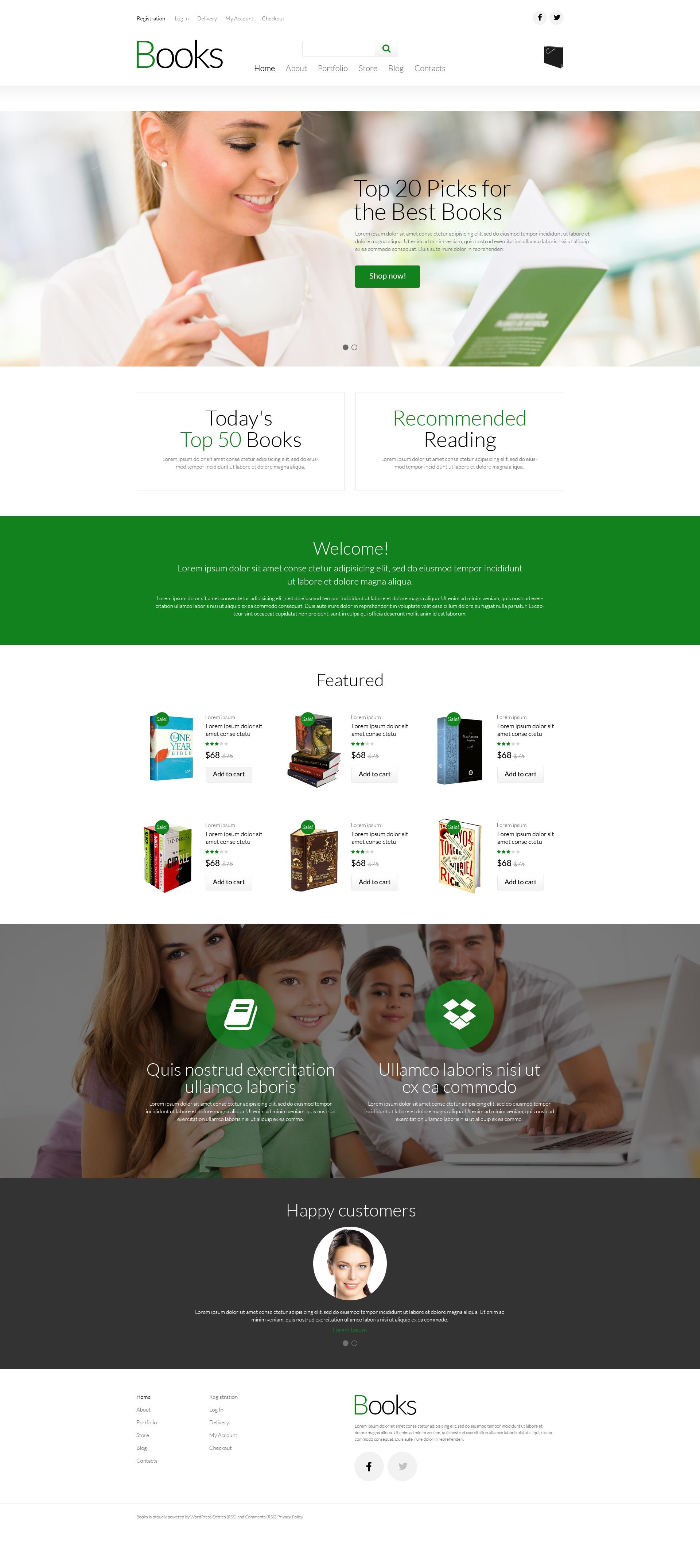 "Modello WooCommerce Responsive #52286 ""Paperback Book Store"" - screenshot"