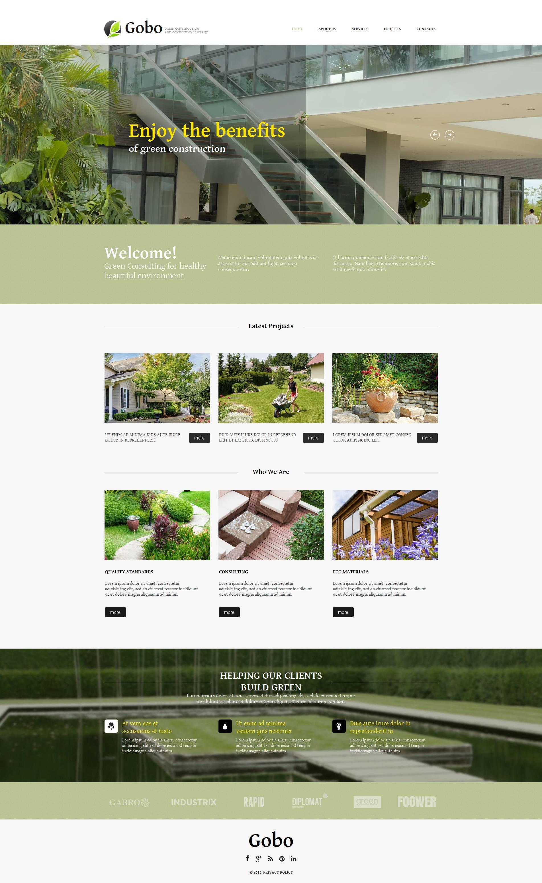 Moto CMS HTML Vorlage für Landschaftsgestaltung #52219