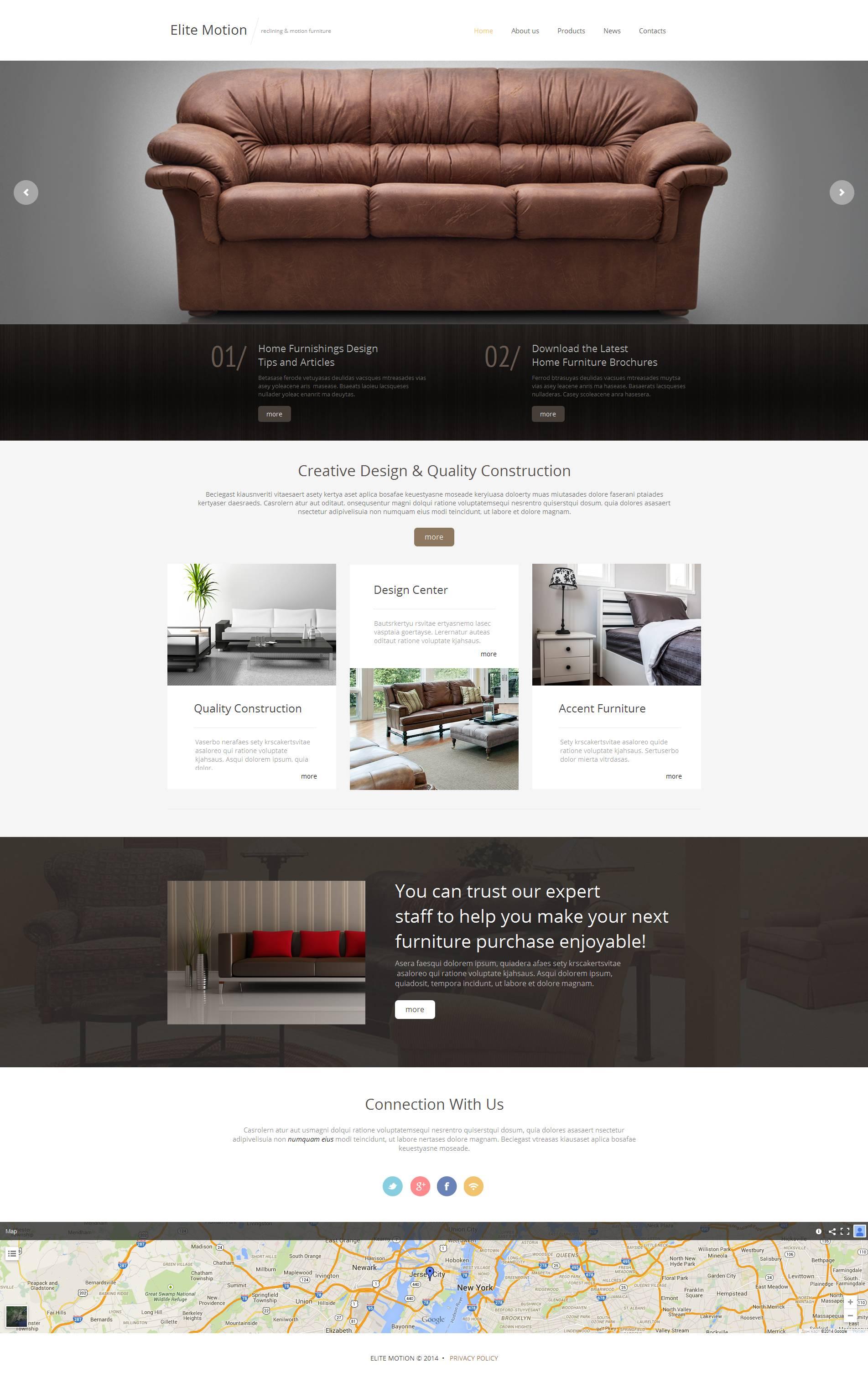 Moto CMS HTML Vorlage für Möbel #52204