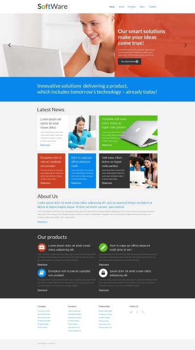 Moto CMS HTML Vorlage für Softwarefirma  #52214
