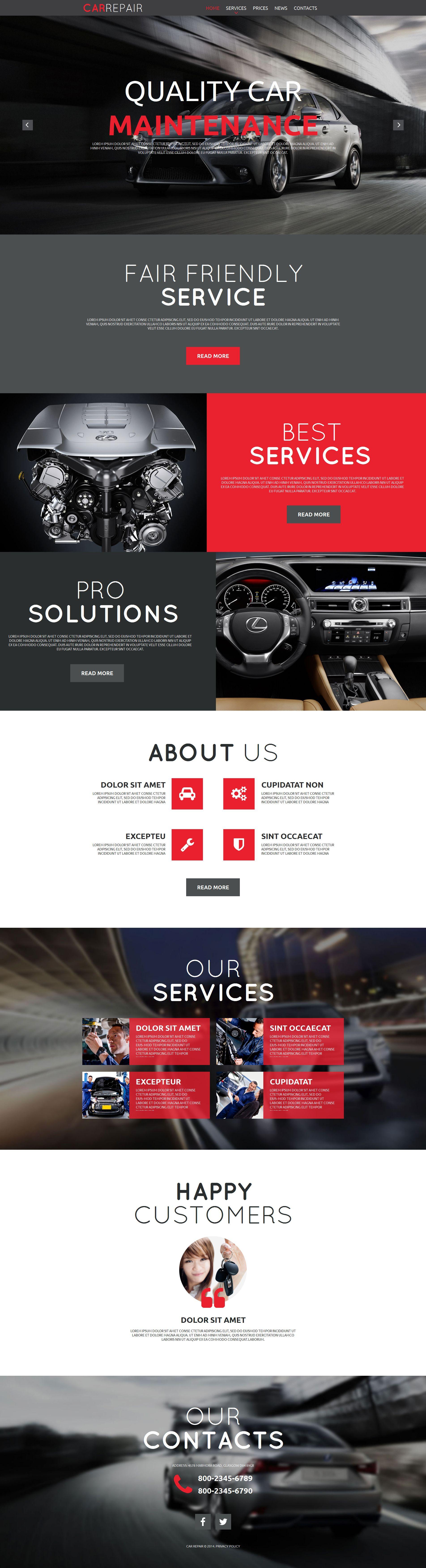 MotoCMS HTML шаблон №52215 на тему ремонт авто