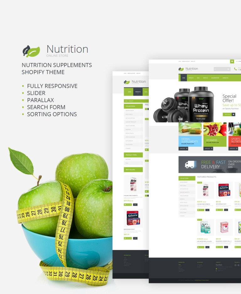 NutritionSupplements Shopify Theme New Screenshots BIG