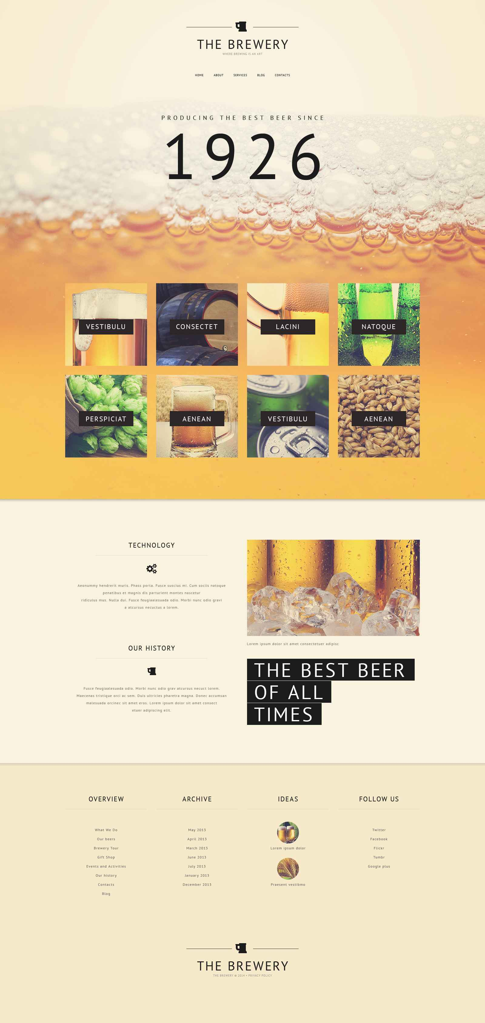 """Old Pub"" Responsive Website template №52292"