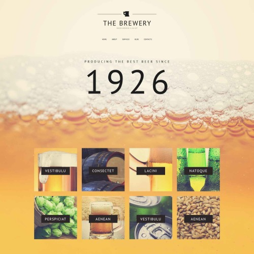The Brewery - Responsive Website Template