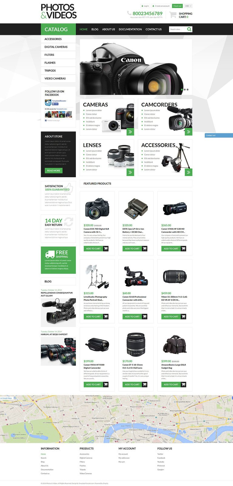 Photo Video Technologies Shopify Theme New Screenshots BIG