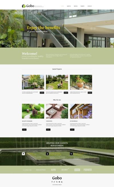 Plantilla Moto CMS HTML #52219 para Sitio de  para Sitio de Diseño de paisaje