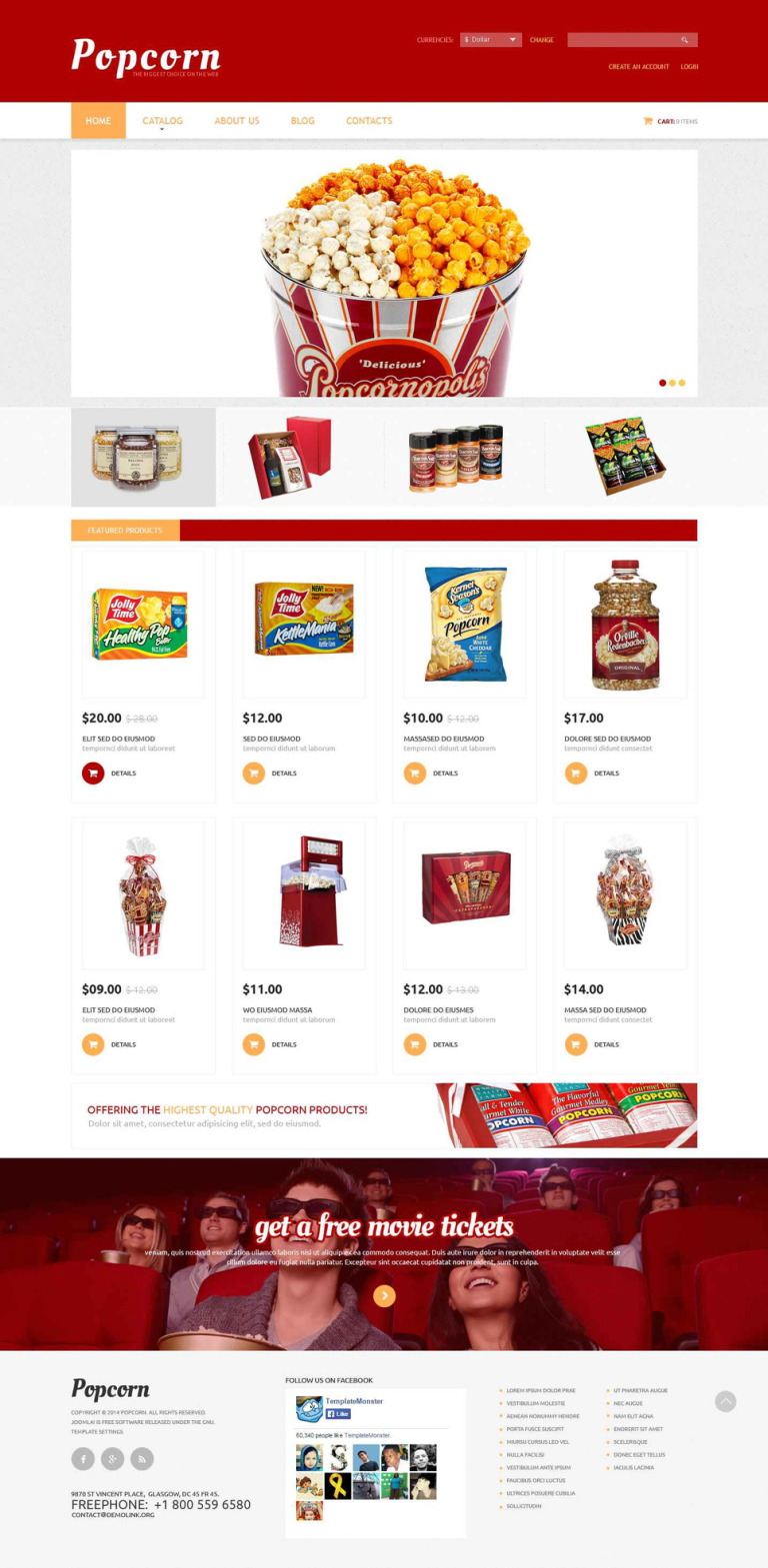 Popcorn Break VirtueMart Template New Screenshots BIG