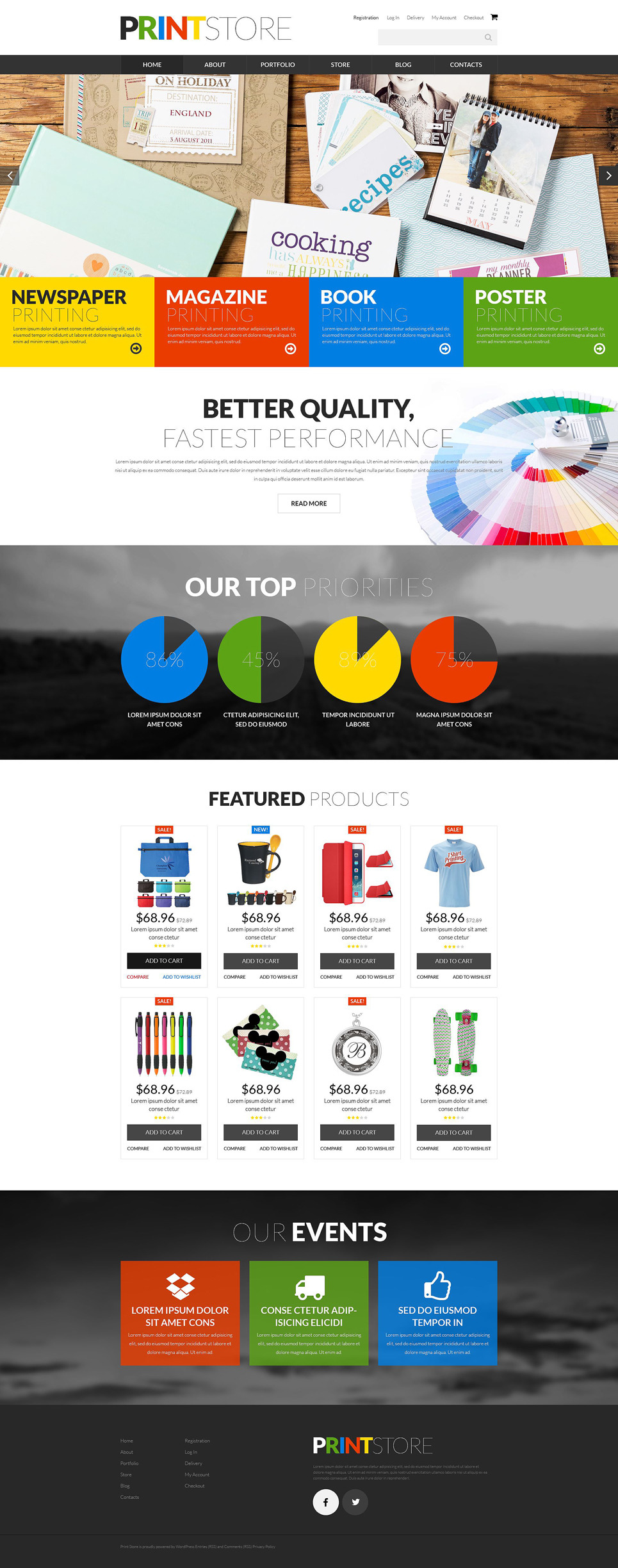 Print Production WooCommerce Theme New Screenshots BIG