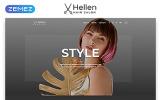 Responsive Hellen - Hair Salon Classic Multipage HTML5 Web Sitesi Şablonu