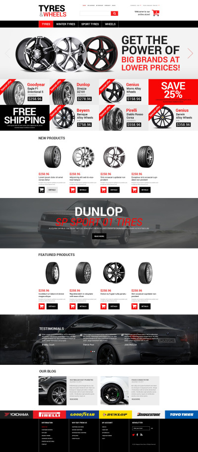Wheels & Tires Responsive Magento Thema