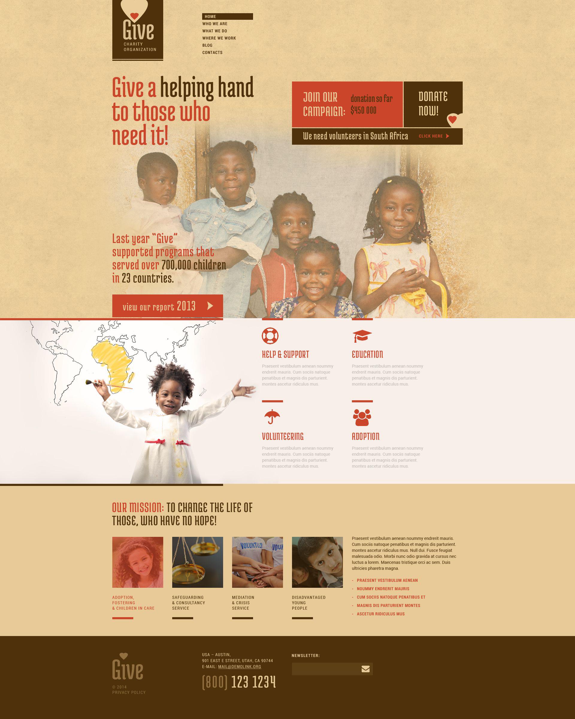 Responsivt Power of Hope Community WordPress-tema #52265