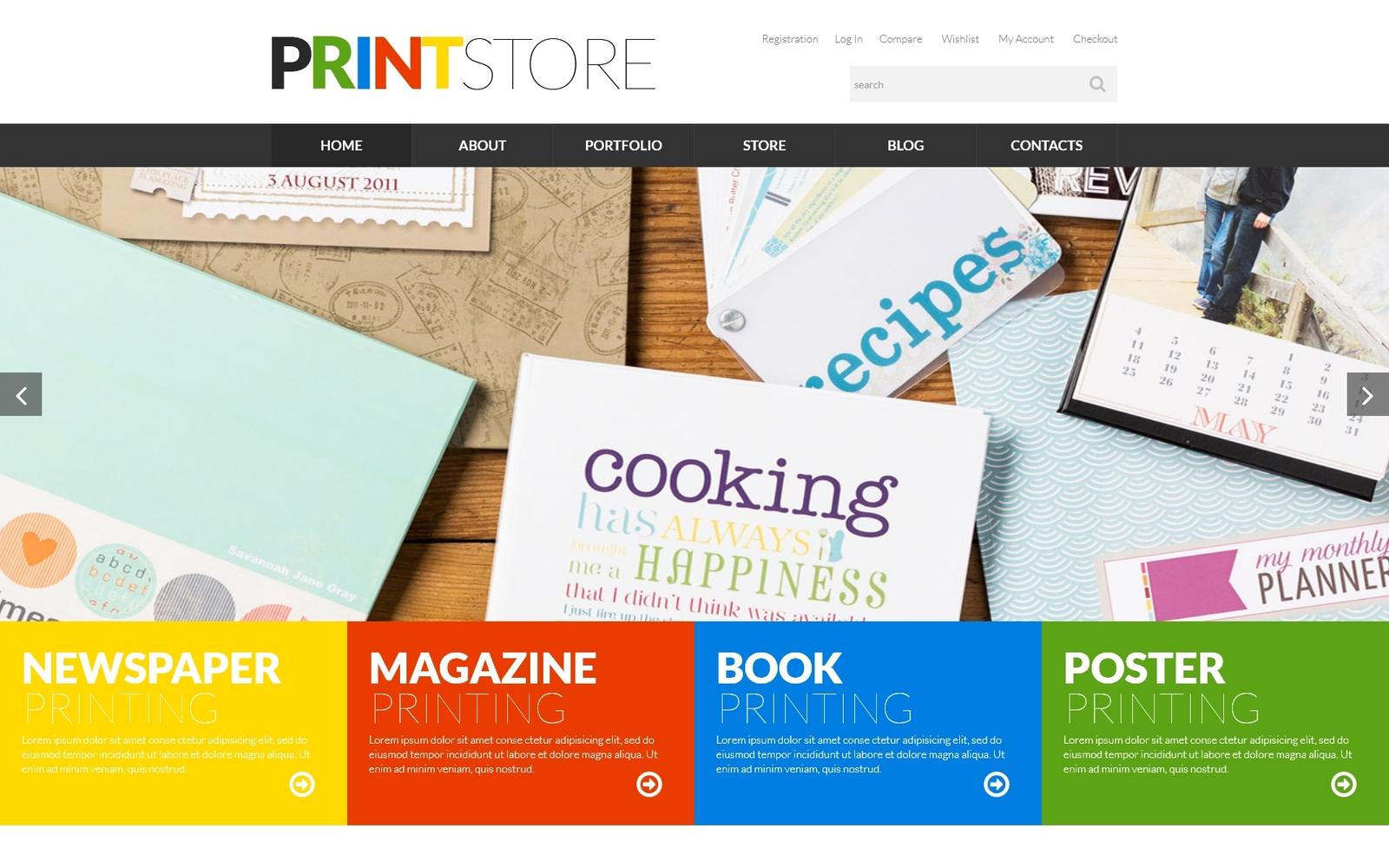 Responsywny motyw WooCommerce Print Production #52277