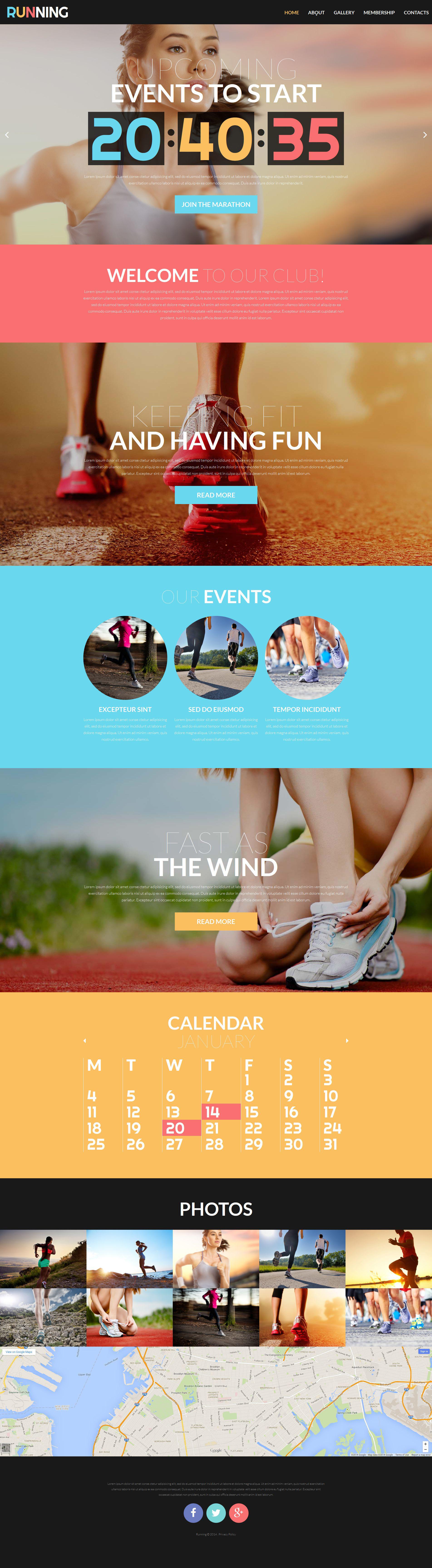 Responsywny szablon strony www #52225 na temat: bieganie