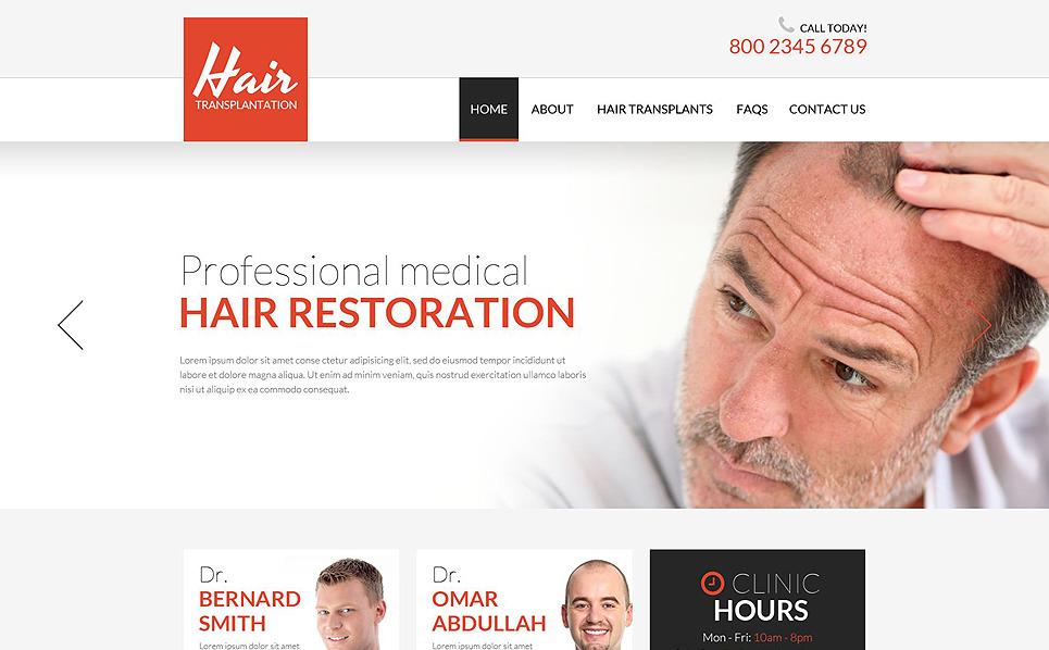 Responsywny szablon strony www #52243 na temat: klinika włosów New Screenshots BIG