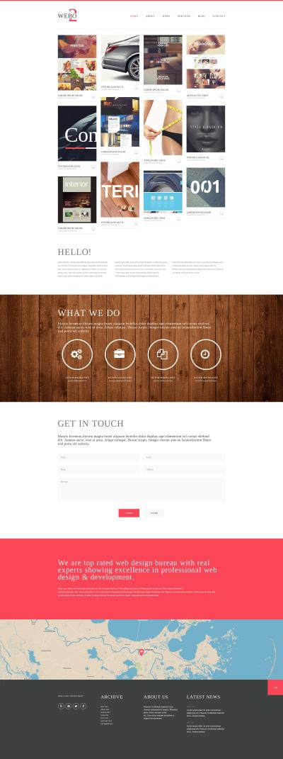 Design Studio Responsive Šablona Webových Stránek
