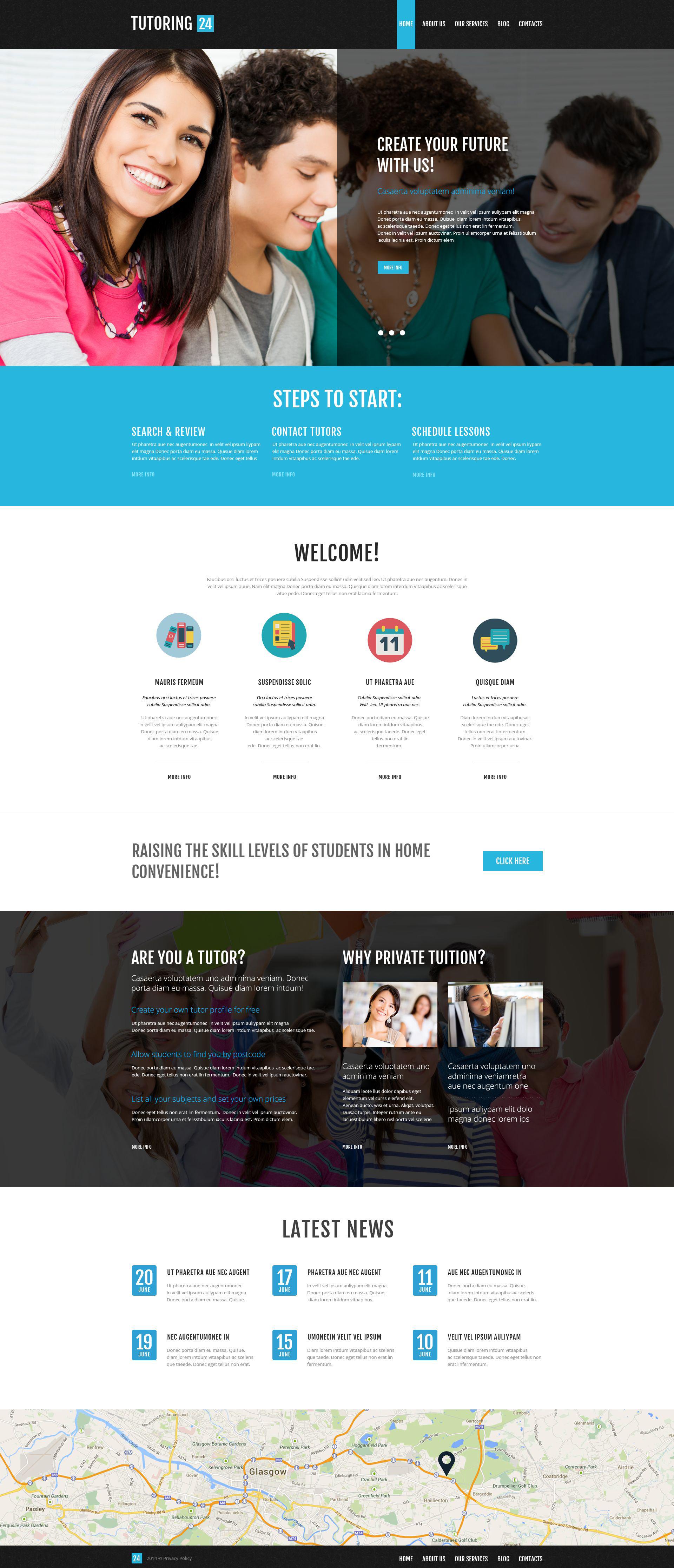 Reszponzív Education Online WordPress sablon 52267 - képernyőkép