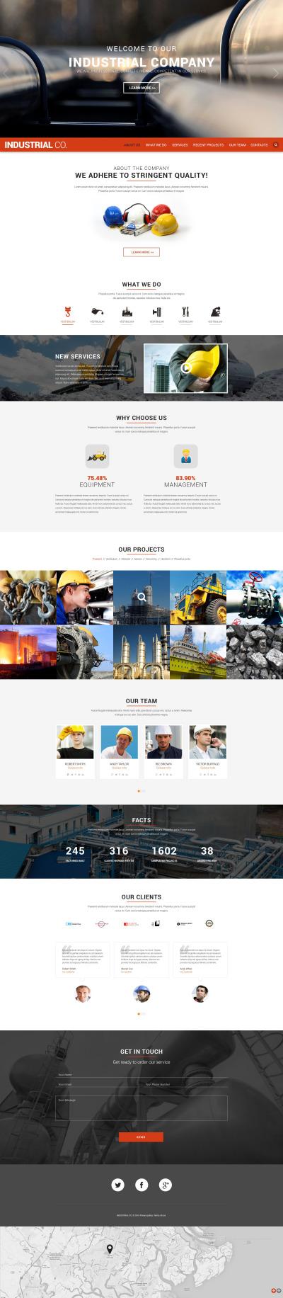Industrial Responsive Weboldal Sablon