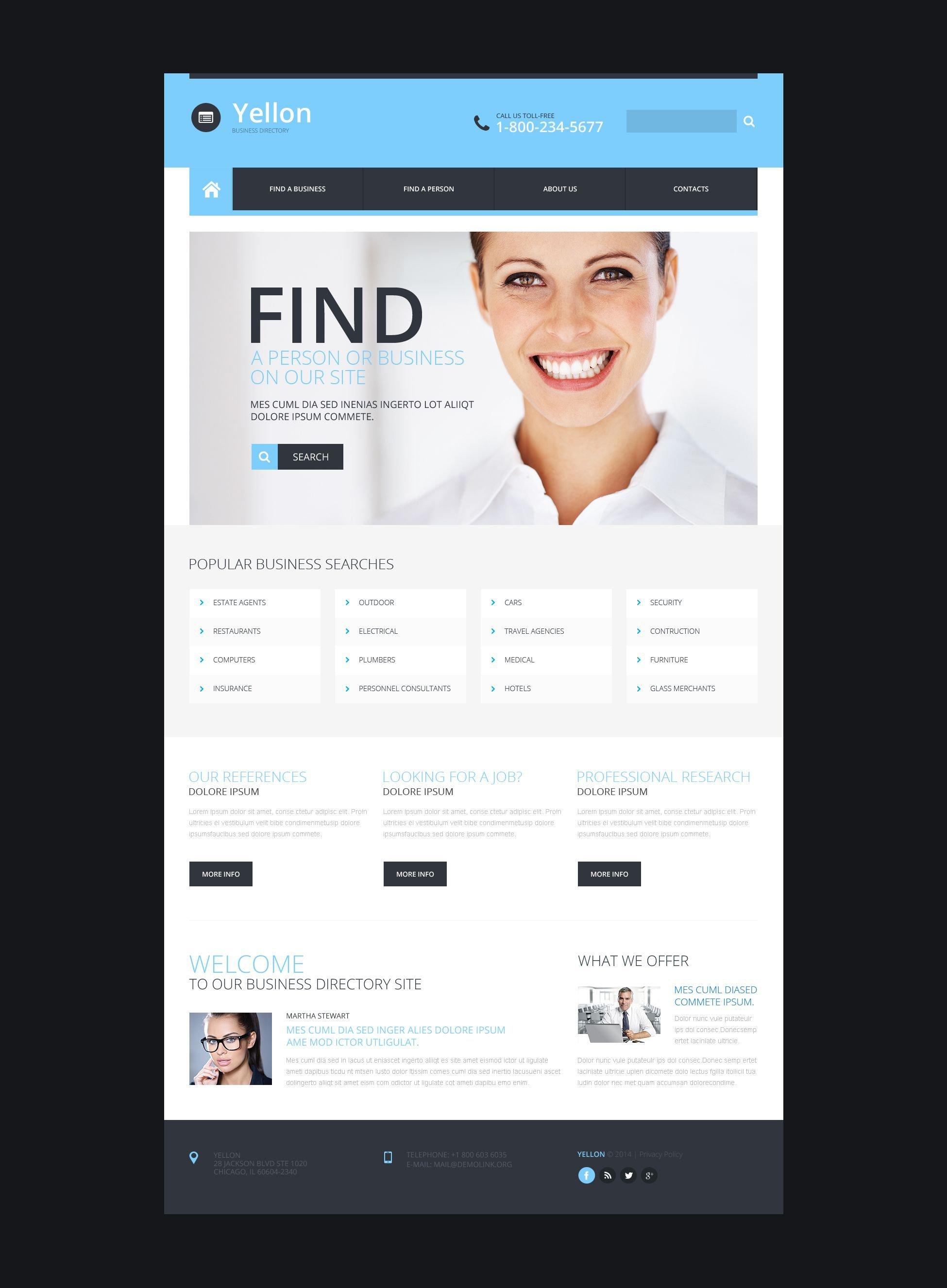 Reszponzív Üzlet és szolgáltatások Weboldal sablon 52280 - képernyőkép