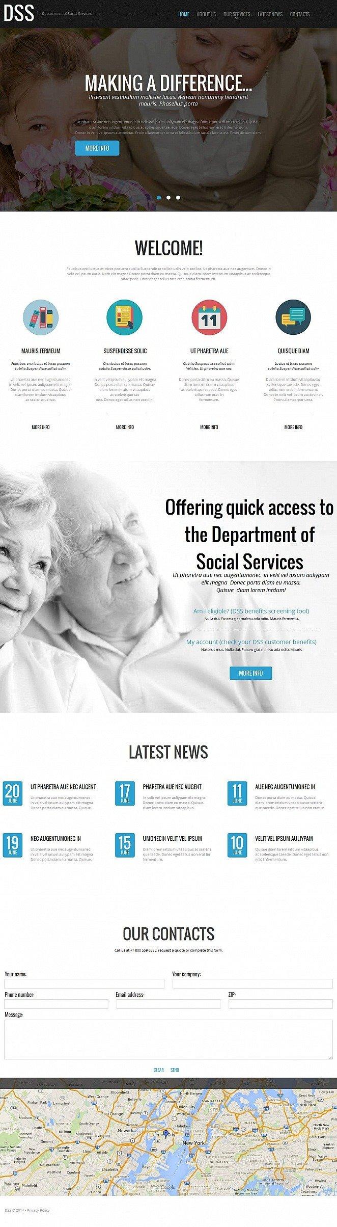 Social Foundation Moto CMS HTML Template New Screenshots BIG
