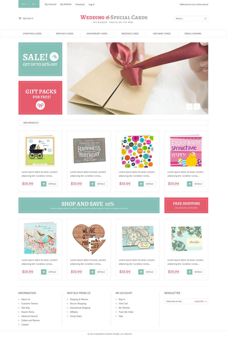 Special Day Cards Magento Theme New Screenshots BIG