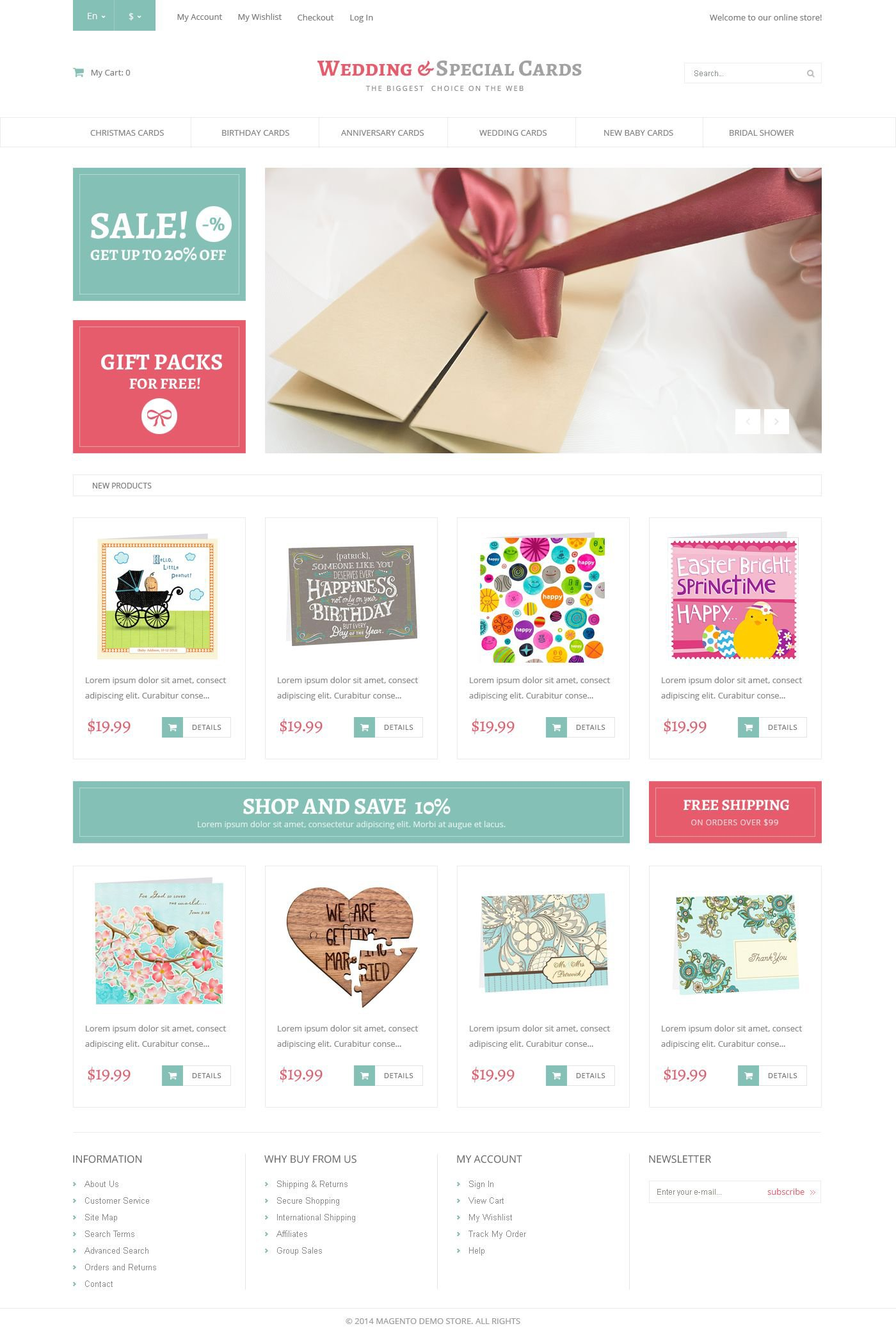 Special Day Cards Magento Theme