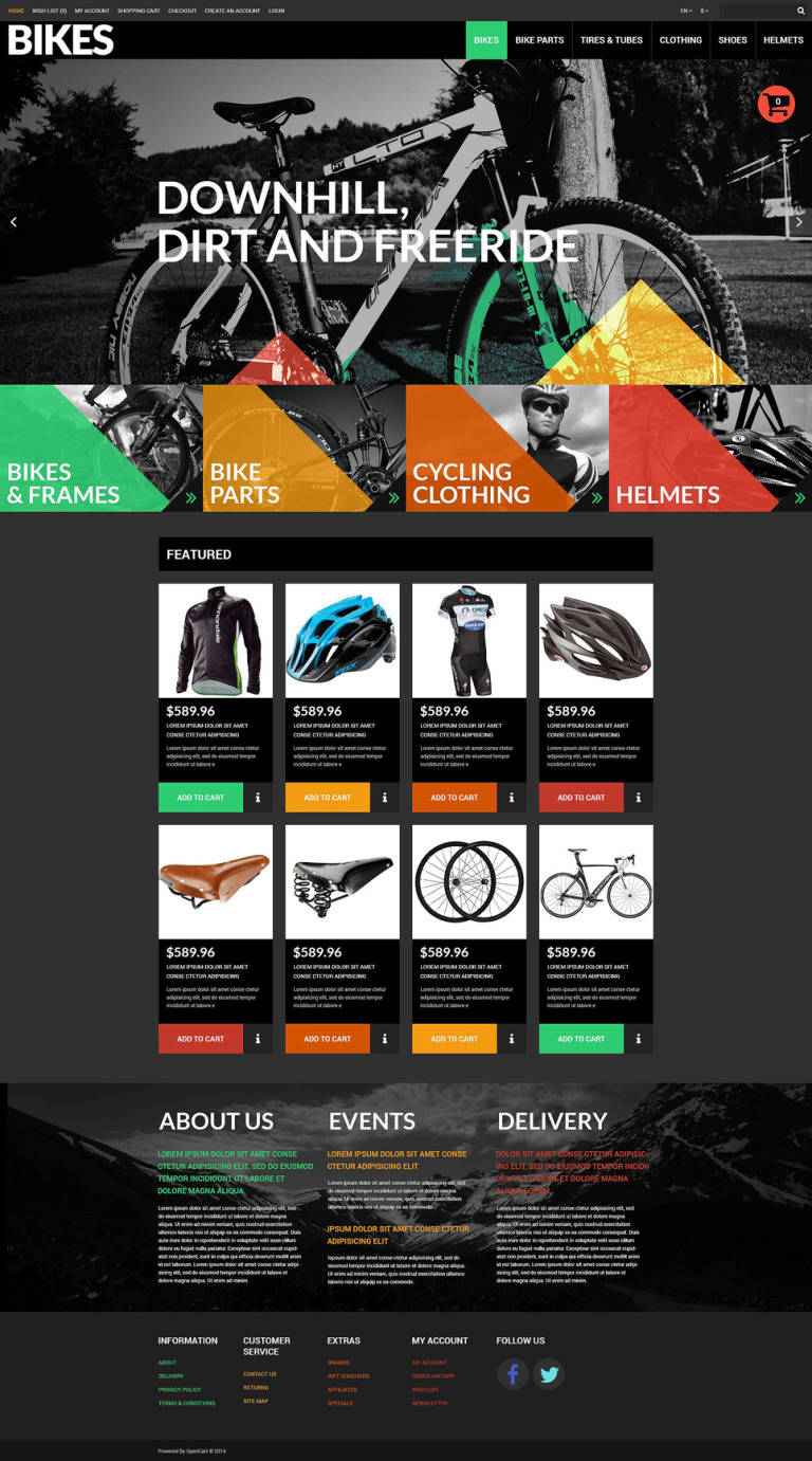 Sport Goods OpenCart Template New Screenshots BIG