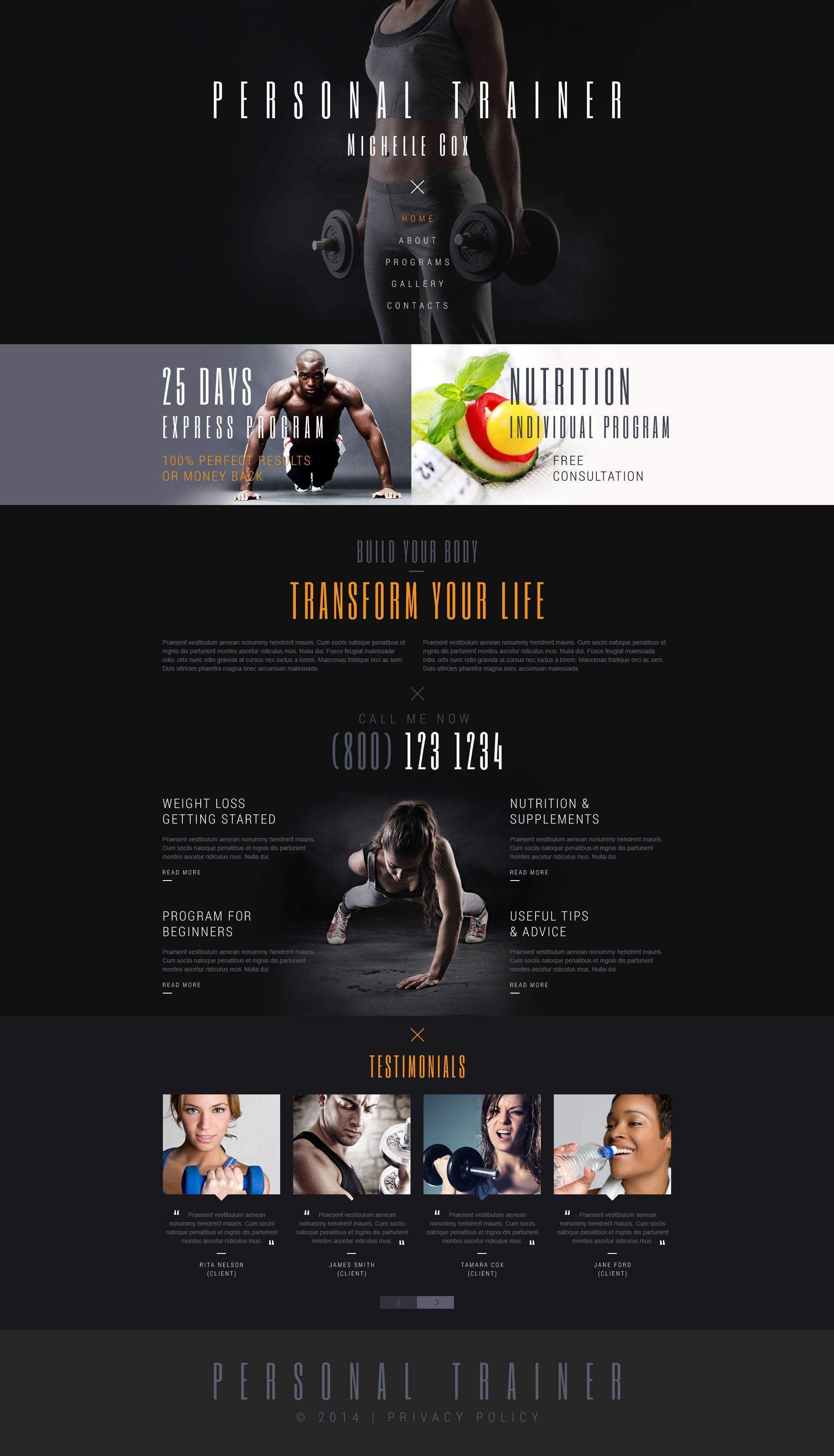 sport responsive website template 52279